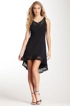 Hi-Lo Lace Trim Dress