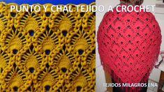 Punto tejido a crochet y Chal en V tejido a crochet paso a paso en punto...