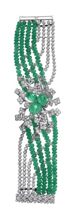 CARTIER EMERALDS AND DIAMONDS BRACELET  | Fashion Jewelry Antique | Rosamaria G Frangini