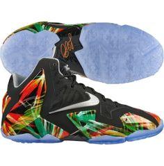 Nike Kids' Grade School LeBron XI Basketball Shoe - Black/Silver   DICK'S Sporting Goods