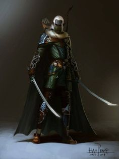 Male elf ranger with swords Dungeons And Dragons Characters, Fantasy, Character Inspiration, Fantasy Artwork, Elf Ranger, Fantasy Art, Elf Warrior, Elven, Elves