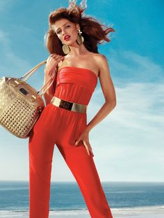 Red haute jumpsuit (bebe summer 2012)