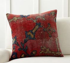 "Dara Persian Pillow Cover, 22"", Red Multi"