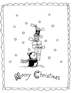 Color Me: Merry Christmas Penguin