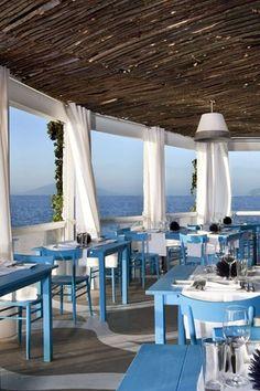 Capri, Italy. Il Riccio Restaurant