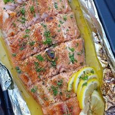 If you have been searching for the SIMPLEST- most DELICIOUS Salmon recipe - THIS is it! Sure to become a weekly Dinner in your home!  Serves 6 - 8 Ingredients: 1/4 cup coconut oil, or clarified butter 1/4 cup raw honey 4-6 large cloves garlic, minced juice of a fresh lemon 2.5 lbs. salmon Sea...