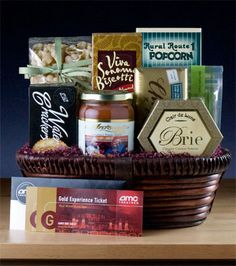 Dinner and a Movie: This gift basket has everything they'll need for a great night. There's pasta and sauce, cheese and crackers, and two AMC Gold movies passes (or you can add more). There's even a box of gourmet popcorn and a bar of chocolate to take along to the show. $99.99
