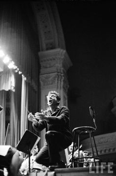 Leonard Bernstein conducting Mahler's 2nd Symphony during a NY Phil rehearsal at Carnegie Hall, 1960