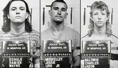 The West Memphis Three. Police photos.