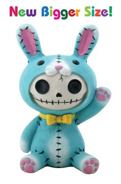 Blue Bun Bun Furry Bones Skellies Medium Figurine [8280S] - $13.99 : Mystic Crypt, the most unique, hard to find items at ghoulishly great p...
