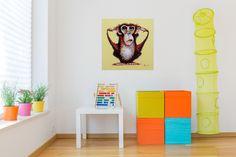 Acryl Gemälde 'Affe hört nichts' 60x60cm