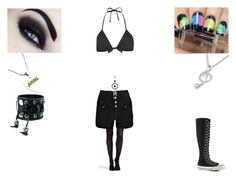 """""""Untitled #82"""" by kawaiipiglet666 ❤ liked on Polyvore featuring MaBelle, Funk Plus, Topshop, SPANX, Boohoo and Converse"""