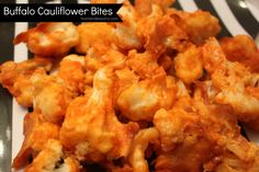 Buffalo Cauliflower Bites  1/2 C water  1/2 C milk  1 C rice flour (*If you're not eating gluten free, just use regular flour. If you're eating grain-free, I bet coconut flour would taste good with this too!)  1 small head of cauliflower  3/4 C Frank's RedHot Sauce (the Buffalor style is great if you can find it).  1 T unsalted butter, melted  1 t garlic powder