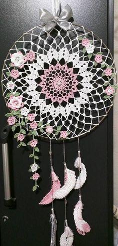 Inspiration only. No pattern. Crochet Home, Crochet Motif, Crochet Designs, Crochet Crafts, Crochet Doilies, Crochet Flowers, Crochet Stitches, Crochet Projects, Free Crochet