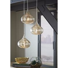 Shop for Signature Design by Ashley Jodoc Silver Finish Glass Pendant Light. Get free shipping at Overstock.com - Your Online Home Decor Outlet Store! Get 5% in rewards with Club O!