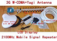 >> Click to Buy << FULL SET 3g signal booster LCD display+18dbi yagi! mobile wcdma 2100mhz 3g signal repeater, cell phone 3g signal amplifier #Affiliate