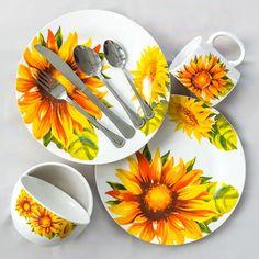 Royal Norfolk Sunflower Stoneware Bowls, in Kitchen iDeas Kitchen iDeen 🍳 Sunflower Design, Sunflower Print, Yellow Sunflower, Sunflower House, Galley Kitchens, Cool Kitchens, Sunflower Themed Kitchen, Norfolk, Western Kitchen