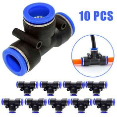 Color : PD12 02, Size : Standard Self-drive tool 10pcs Hose Tube T Shape Tee Air Fitting 1//4 1//8 3//8 1//2BSPT Male Thread 3 Way Pipe Coupler Pneumatic Connector 10mm 8mm 6mm 12mm