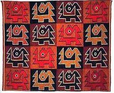 Manto funerario paraca  Peru prehispanico