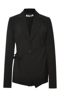 Tie-Front Crepe Blazer by Kenzo - Moda Operandi