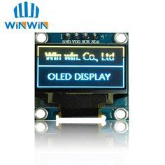 "1 pz 0.96 ""giallo blu 0.96 pollice OLED modulo Nuovo 128X64 OLED Display LCD A LED Module 0.96"" IIC I2C Comunicare"