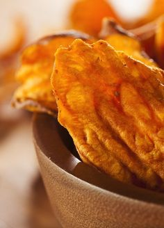 Our Skinny Sweet Potato Chips are going to rock your tastebuds. Get that recipe and other great, healthy crunchy snacks here.