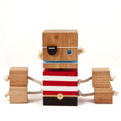 Captain Blockbeard - Limited Edition Toy from Recycled Wood