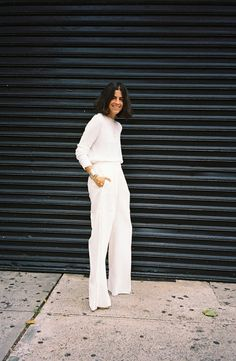 Leandra working white. NYC. #LeandraMedine #ManRepeller