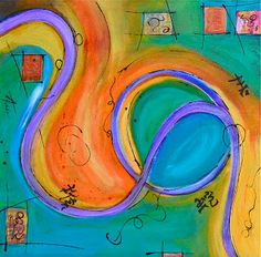 Daily Painters of Arizona: Loop Zen Series Acrylic Abstract by Fine Artist and Daily Painter from Fountain Hills, AZ AMY TUSO