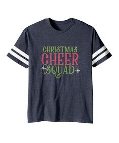 Vintage Navy 'Christmas Cheer Squad' Football Tee - Toddler & Kids