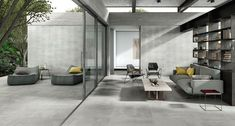 Terras en woonkamer samengevoegd Interlocking Patio Tiles, Wood Deck Tiles, Interior And Exterior, Interior Design, Garden Deco, Forging Metal, Outdoor Flooring, Style Tile, Stone Houses