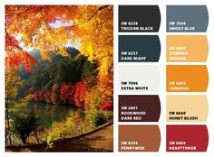 The colors of fall....  Paint colors from Chip It! by Sherwin-Williams