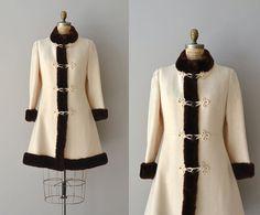 Tsarevna wool coat / cream wool 1960s coat / 60s by DearGolden