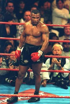Mike tyson intimidating entrance gate