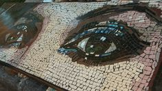 The eyes of Maribel Mosaic - almost completed. by mosaicblues, via Flickr