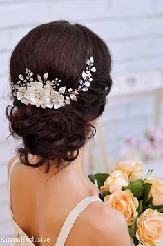 Coworker gift for wife Bridal hair accessories Bridal hair
