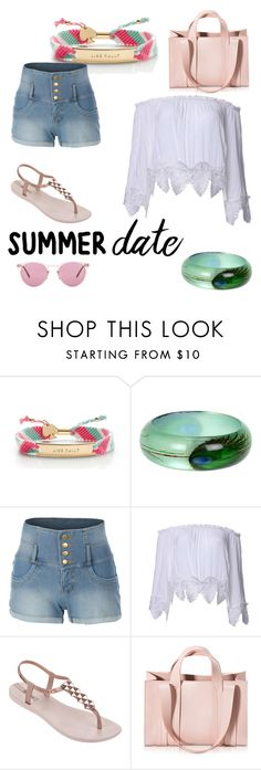 """Chilled summer date"" by lisa-howlin ❤ liked on Polyvore featuring Kate Spade, LE3NO, IPANEMA, Corto Moltedo, Oliver Peoples, beach and summerdate"