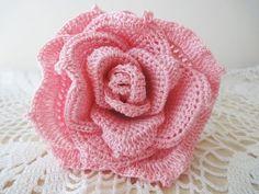 Большая роза Часть 1 Rose Crochet Part 1 - YouTube