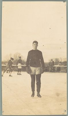 Unknown, American. [Maurice Field, School Friend of Walker Evans on Ice Skates, Loomis Institute, Windsor, Connecticut], 1920–21. The Metropolitan Museum of Art, New York. Walker Evans Archive, 1994 (1994.261.149) #olympics #iceskating