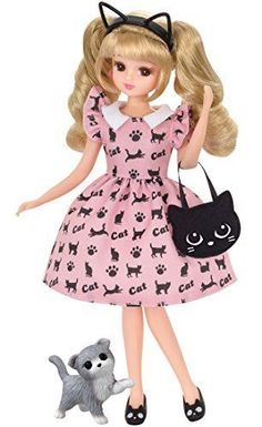 Head to toe, the cute cat Dzukushi fashion. Cat ear headband, cat bag, cat pumps and with a kitten of Scottish Fold. Cat accessories and cat pattern of the set of one-piece. It is a set of only clothes and accessories.