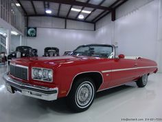 1975 would be the last year for the full size convertible at GM. Here is a Caprice Classic convertible finished in Medium Red with white vinyl interior and showing just 31,000 on the odometer. LOVELY!