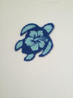 Sea turtle hibiscus perler