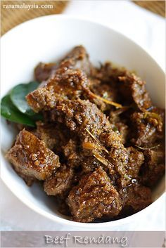 The BEST and most authentic beef rendang (rendang daging) recipe ever! Spicy, rich and creamy Malaysian/Indonesian beef stew.   rasamalaysia.com
