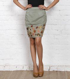 Green Suede Short Skirt
