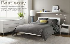 what do u think of the white bed against the grey wall?  Bedroom - Room & Board