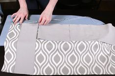 No Sew Valance - bonding tape No Sew Valance, Valance Tutorial, Roman Shade Tutorial, No Sew Curtains, Rod Pocket Curtains, Custom Curtains, Drapery Fabric, Bead Sewing, Love Sewing