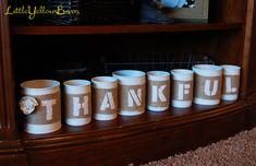 Little Yellow Barn: Tin Can Thanksgiving Decor