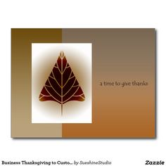 Business Thanksgiving to Customers/Clients Postcard