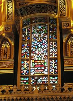 Window The Arab Room at Cardiff Castle Designed by William Burges
