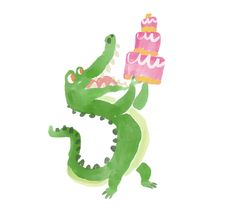 An Alligator is Born: My Process — Talitha Shipman Illustration Alligators, Crocodiles, Alligator Birthday, Step Guide, Zine, New Work, Illustration Art, Character Design, Holidays